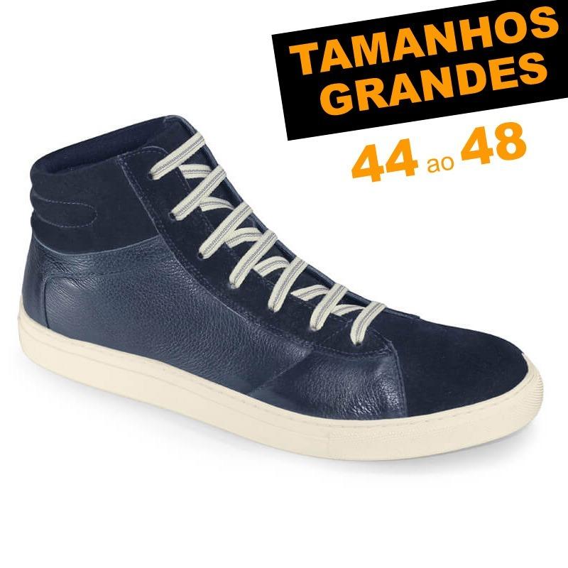 e3b89484cb8 Bota Street Azul Probs7 Tamanhos 44 Ao 48 Couro Legítimo - R  89