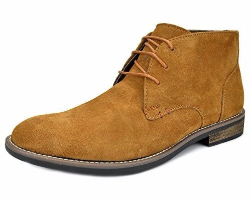 bota suede leather lace up oxfords desert camello  9.5 us