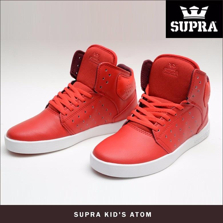 nuevos kids supra caja rojo bota niño en x76ZUUqf