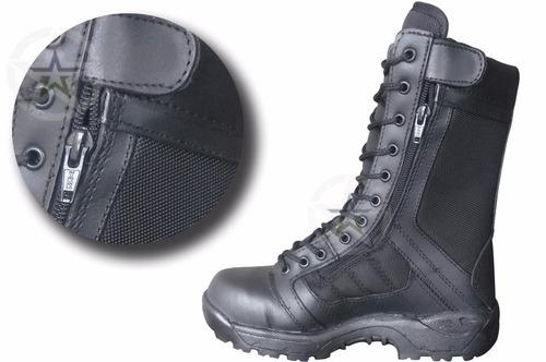 bota tactica imitación swat kaki y negra