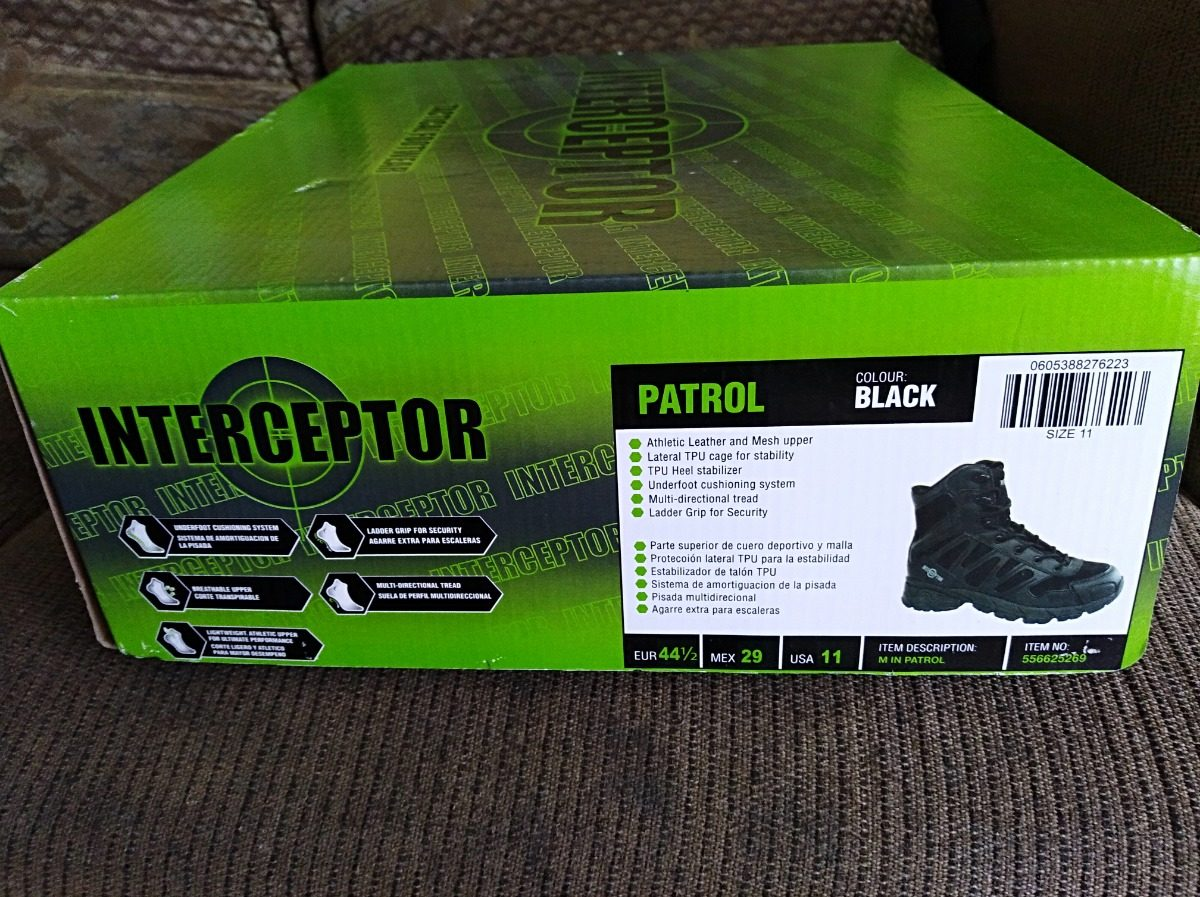 c2e559ce67a Bota Tactica Men's Interceptor Patrol Boot 31 Us