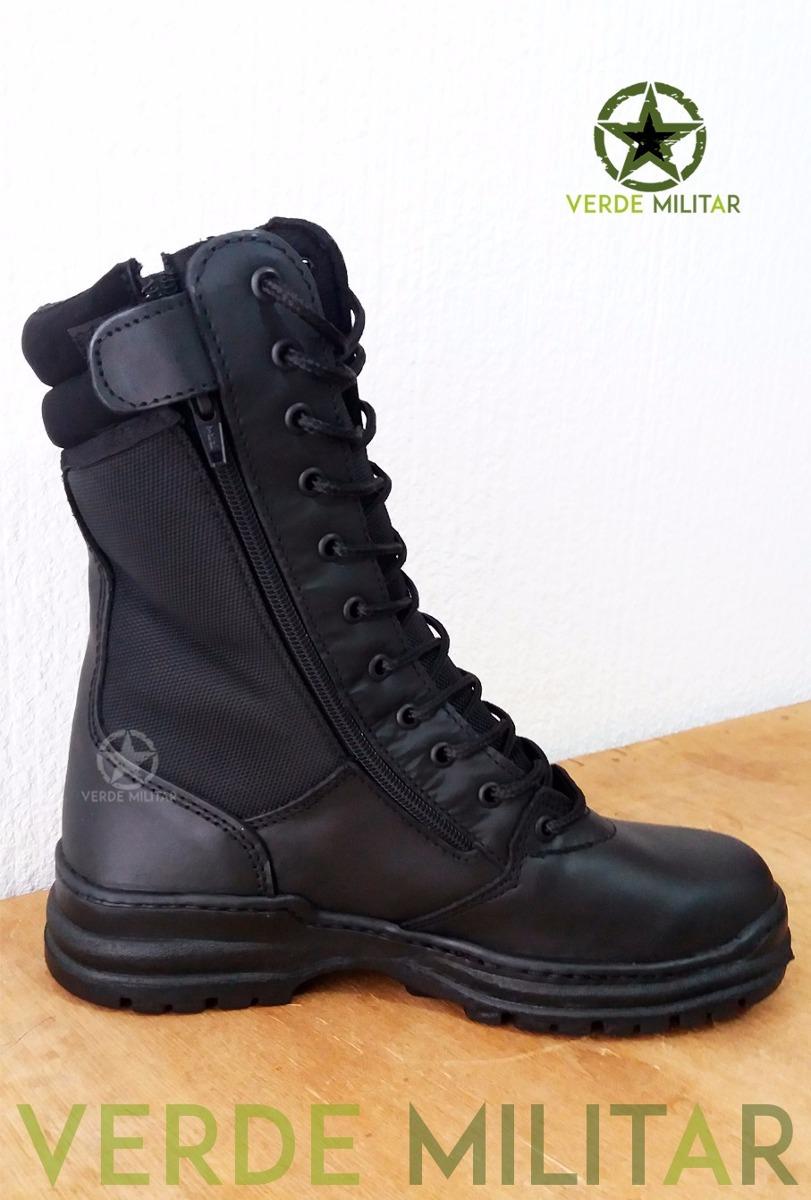 Bota Táctica Piel Mlagher Alta Estilo Swat Policia Militar ... 53308257cf3