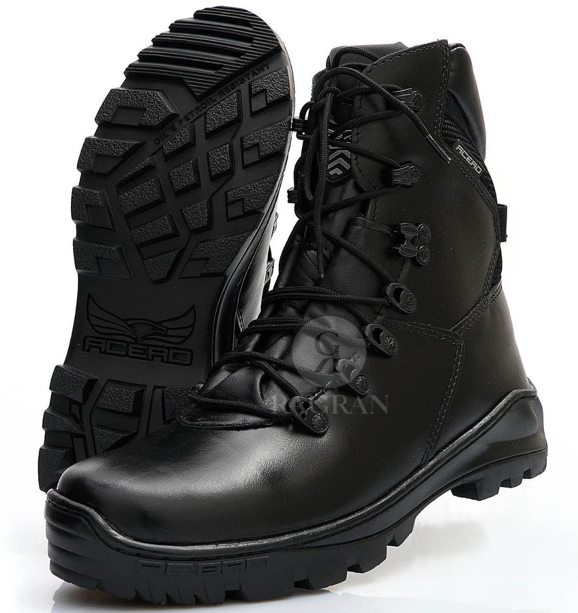 84f060ece bota tática coturno policia seguranca vigilante sapato couro. Carregando  zoom.