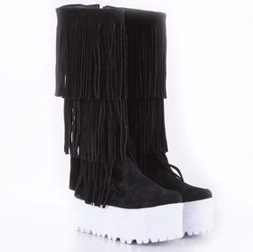 c40f16d76b8 Bota Teens Con Plataforma Y Flecos Model Ash De Shoes Bayres