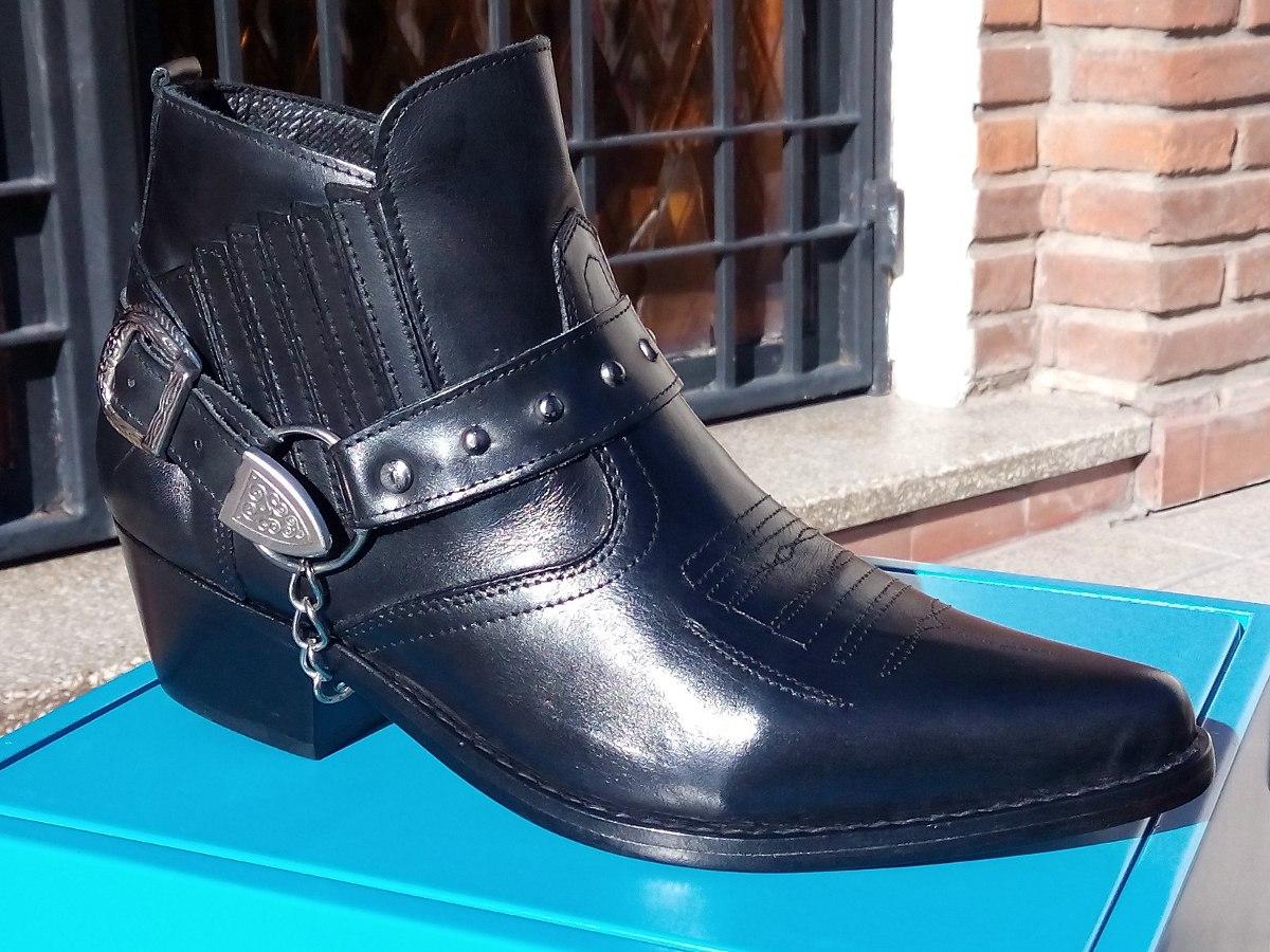 06d713b40 Bota Tejana Corta Cuero Para Hombre Base Suela. Color Negro ...
