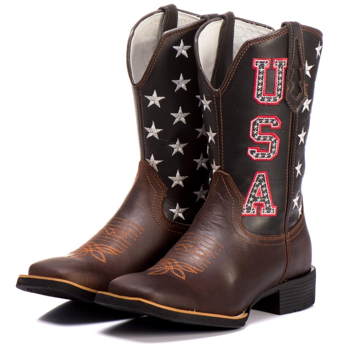 9b5dc3e801 bota texana bico quadrado country masculina cano alto couro. Carregando zoom .