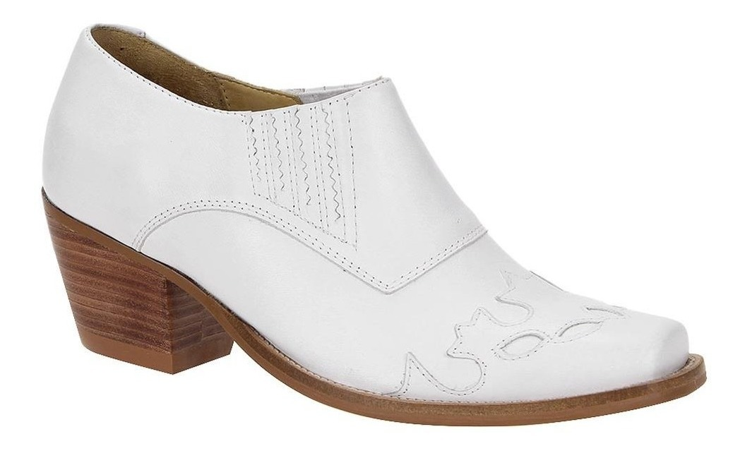 3be23c1004 Bota Texana Branca Feminina Cano Curto - West Country - R$ 207,39 em ...
