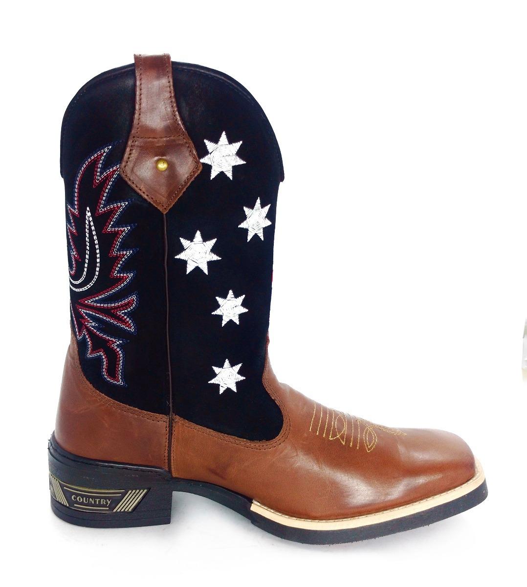 a1529d27ecdc7 bota texana country bandeira inglaterra cano preto bordado. Carregando zoom.