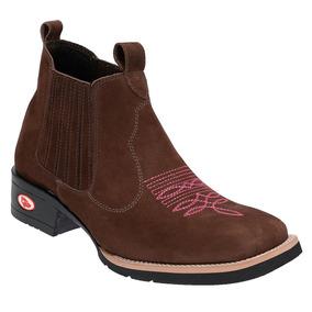 2ca2380dcc Bota Texana Country Amarok Botina Cano Baixo Bico Quadrado - Sapatos ...