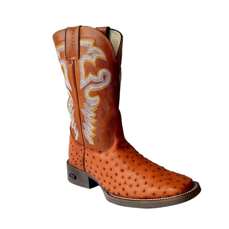 3070c00032 bota texana country durango em couro de avestruz legítimo. Carregando zoom.