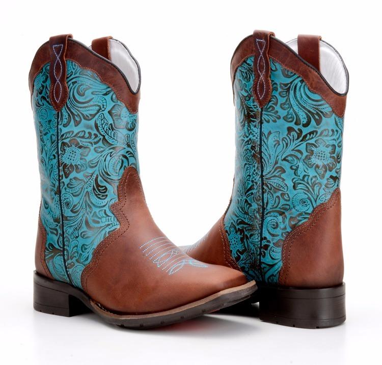 7058423b14 Bota Texana Country Feminina Western Couro Capelli Boots 560 - R ...