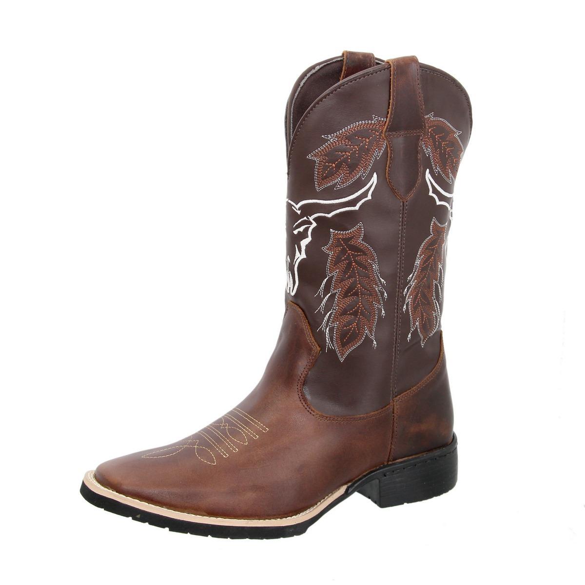 bota texana country masculina couroref  cara de boi+carteira. Carregando  zoom. d1564117178