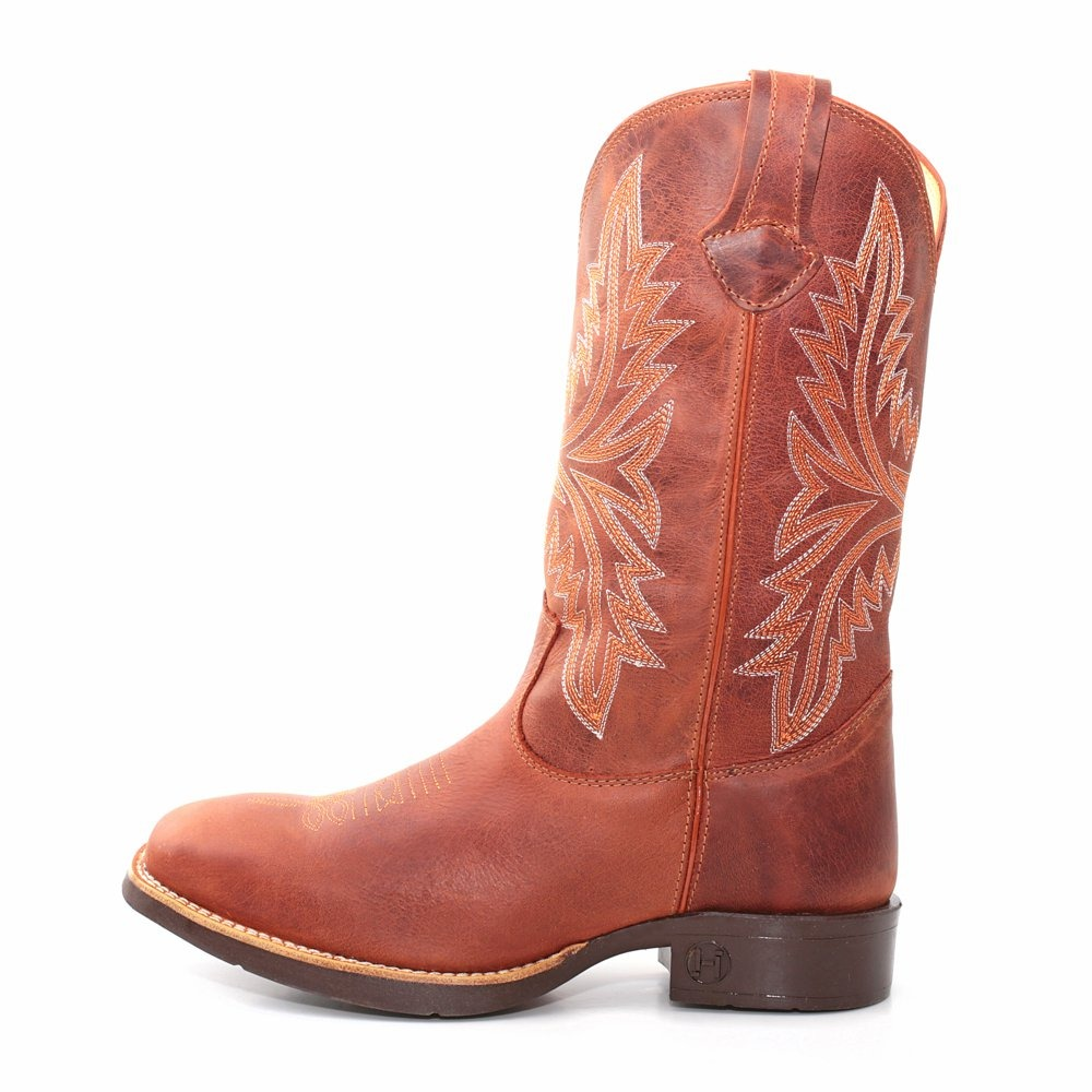 Bota Texana Country Masculina West Couro Marrom Cereja - R  339 84b8c797d1a