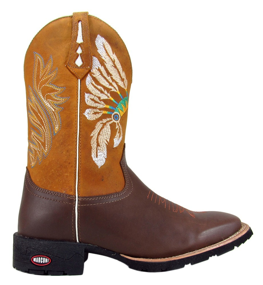 d34595e28a682 bota texana country rodeio bico quadrado cano alto 100%couro. Carregando  zoom.