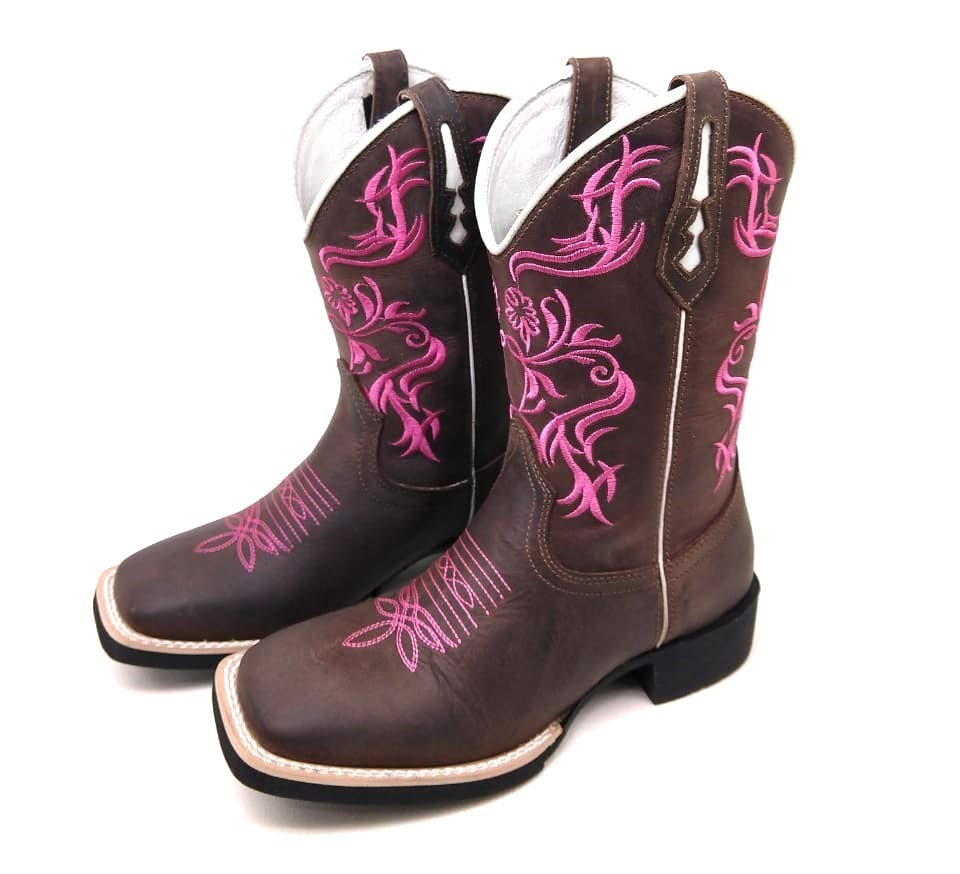 a5dea919478b1 bota texana country rosa 34 ao 40. Carregando zoom.