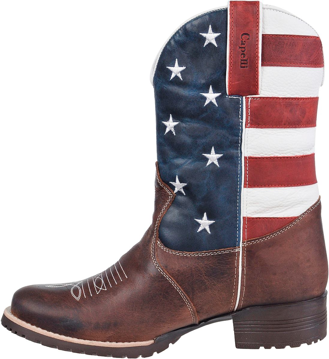 3d31ccc0ab Bota Texana Eua Country Western Couro Legitimo Capelli Boots - R ...