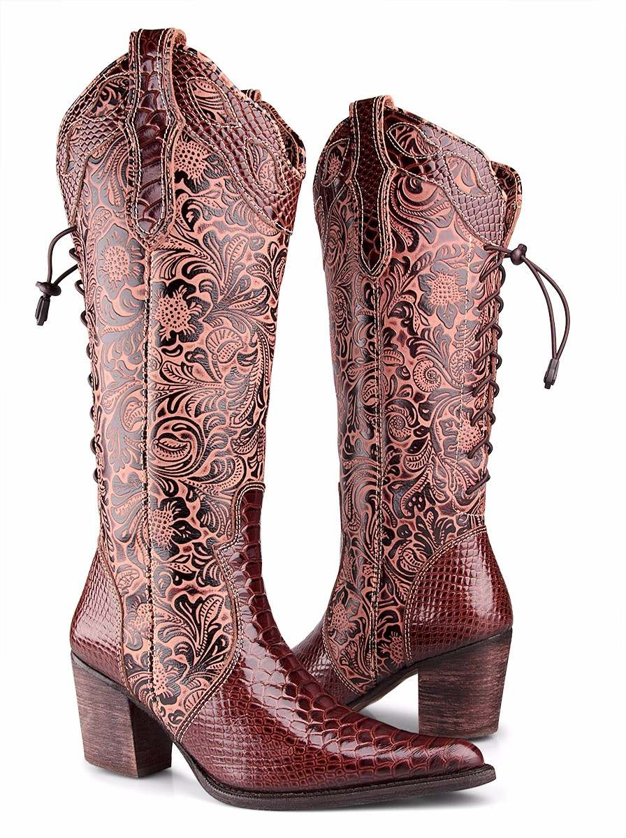 8e059108b12d0 bota texana feminina anaconda country montaria dhl boots. Carregando zoom.