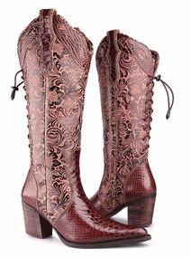 138b7e1b41 Bota Texana Feminina Anaconda Country Montaria Dhl Boots