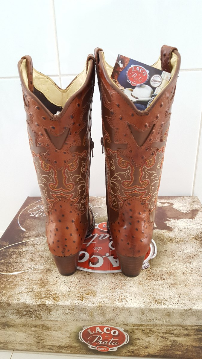de7d81dd18 bota texana feminina avestruz - couro legítimo. Carregando zoom.