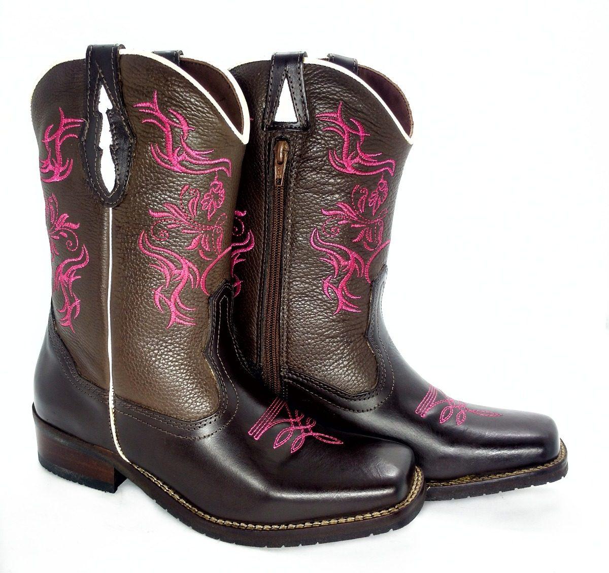98bea187a bota texana feminina bico quadrado cano e couro bordado rosa. Carregando  zoom.