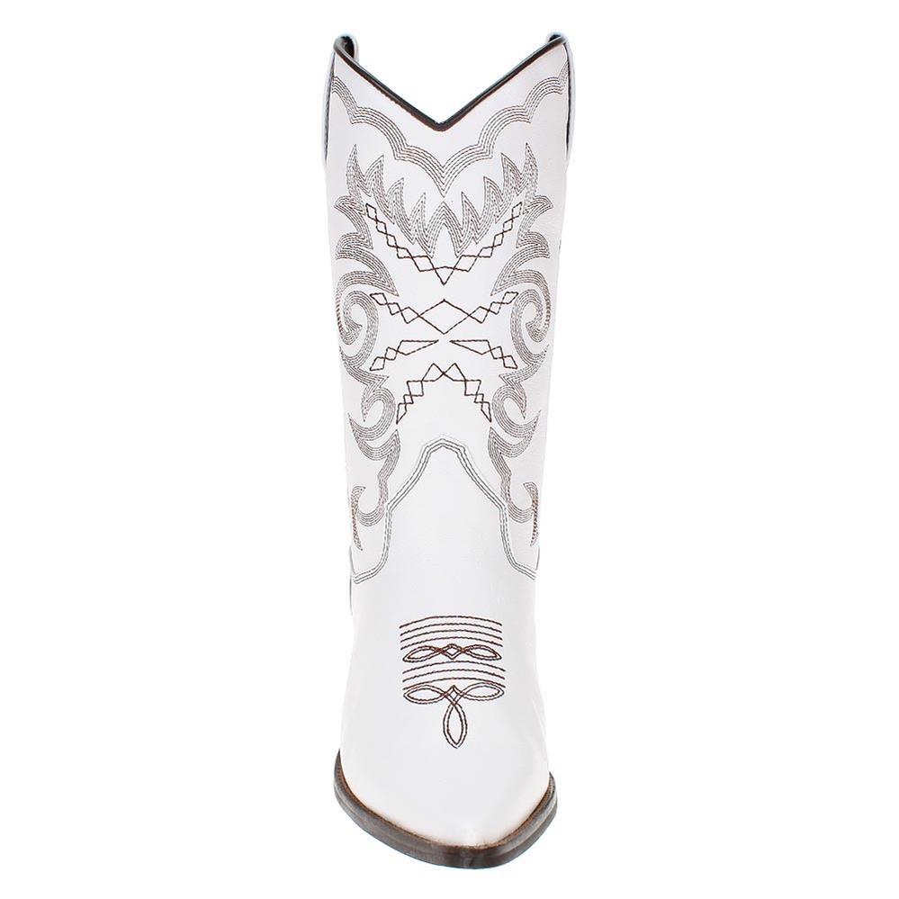 f08f92474bc01 bota texana feminina branca c  cano alto - west country. Carregando zoom.