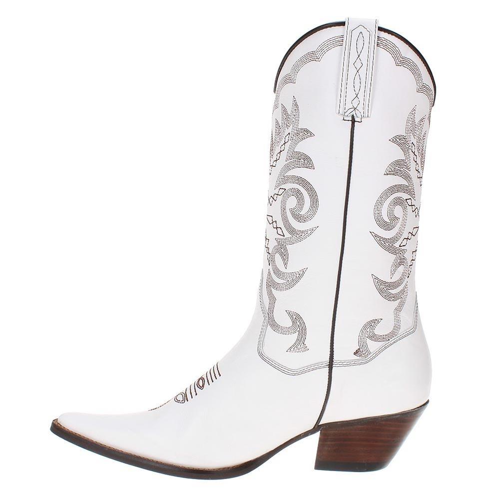 52ffd6b621502 bota texana feminina branca c  cano alto - west country. Carregando zoom.