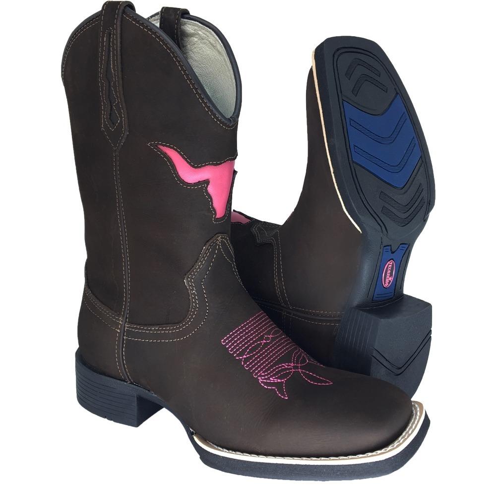 86f5a2568e bota texana feminina café boi rosa pink couro legitimo. Carregando zoom.