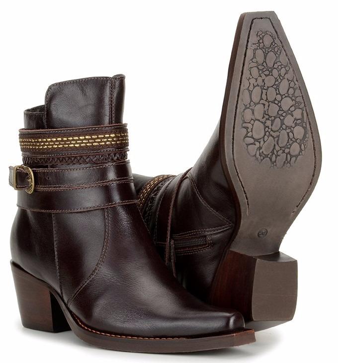 853a9cd1b2 Bota Texana Feminina Cano Curto 100% Couro Boots Top 21030 - R  218 ...