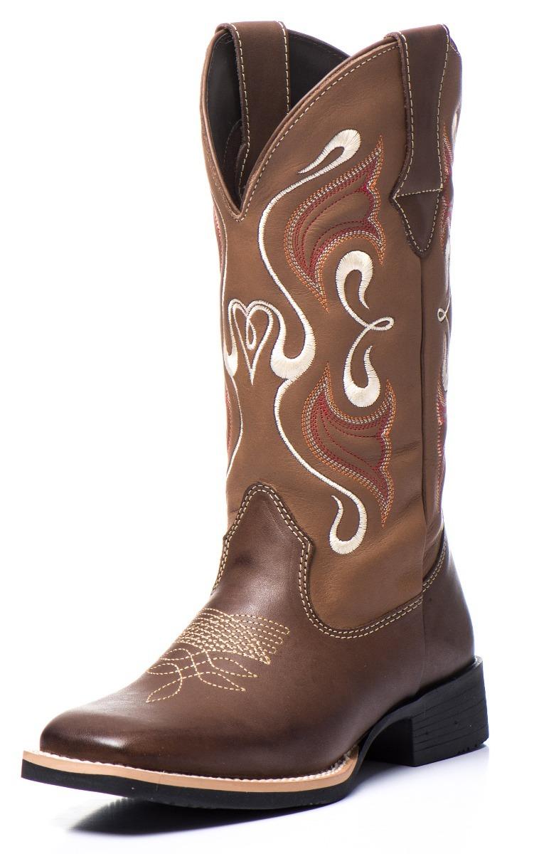 d7ac6847ef bota texana feminina cano longo bico quadrado couro legitimo. Carregando  zoom.