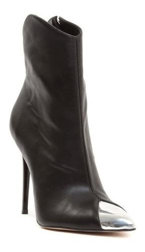 bota texana feminina com biqueira cromada salto alto 11cm
