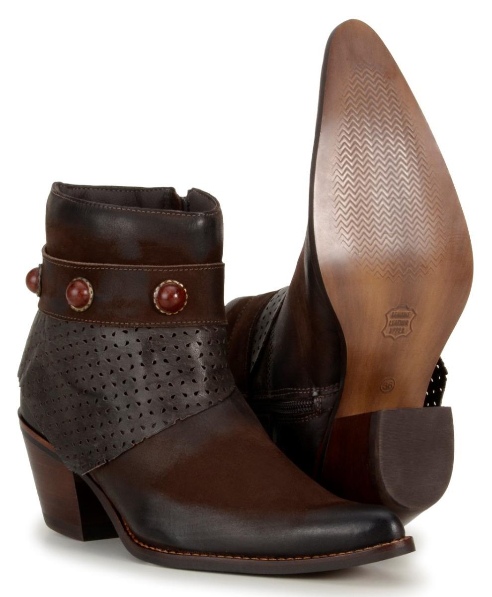 3d2ffeac8cb bota texana feminina country cano médio salto alto rústica. Carregando zoom.