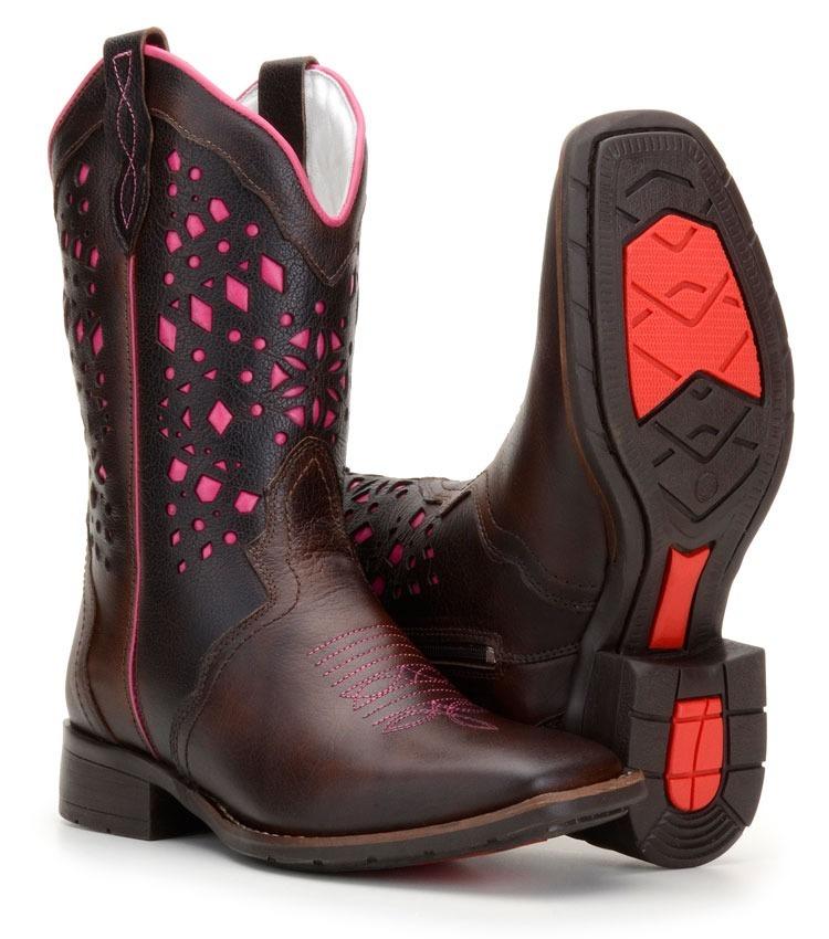 6559e1d0da bota texana feminina country quadrada médio detalhe rosa 569. Carregando  zoom.