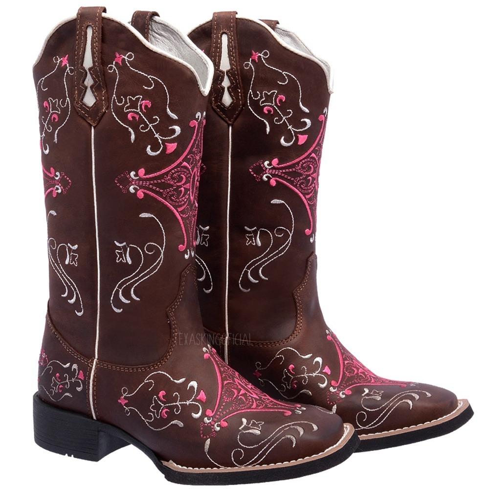 6be43efa8a bota texana feminina couro legitimo hopper bordado completo. Carregando  zoom.
