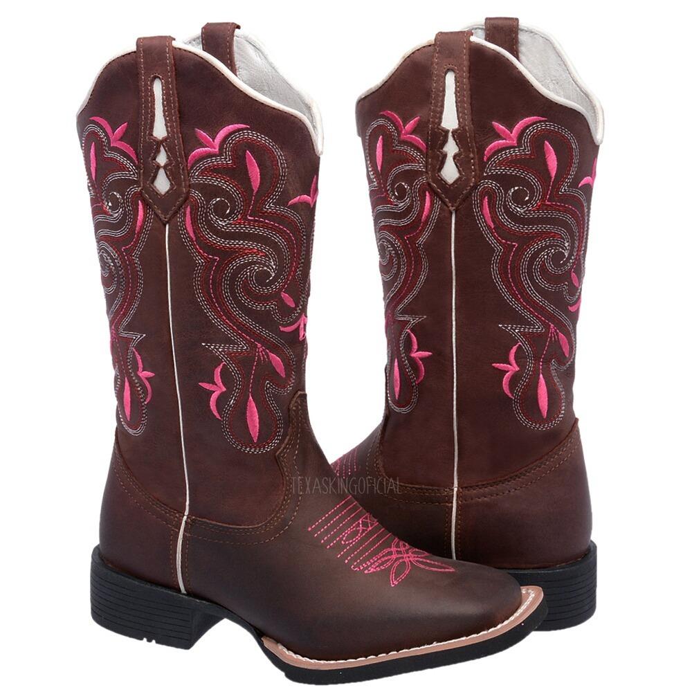 43b99b8f43 bota texana hopper feminina bico quadrado couro legítimo. Carregando zoom.