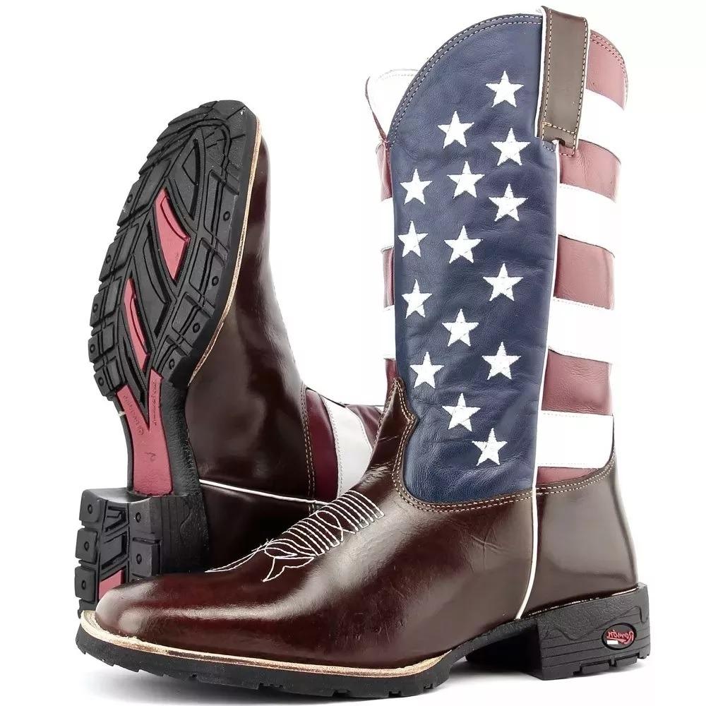 fe305edc1ae bota texana masculina americana estados unidos usa bandeira. Carregando  zoom.