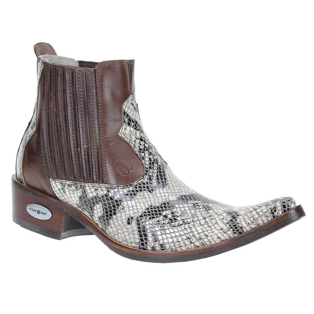1a6db85bc bota texana masculina bico fino anaconda marrom cow way 2151. Carregando  zoom.