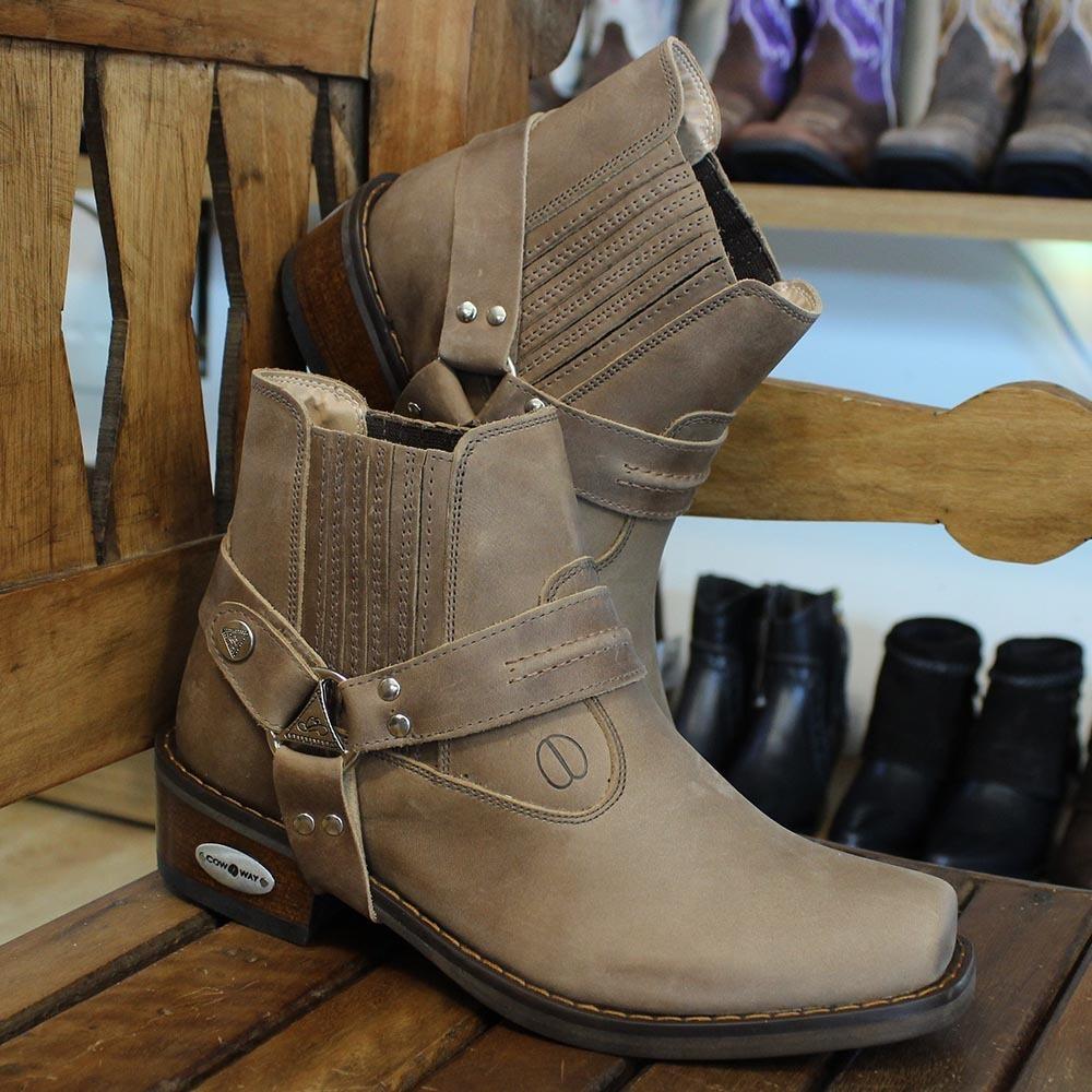 eefa229fba bota texana masculina bico quadrado marrom cow way 21502. Carregando zoom.