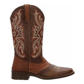 Bota Texana Napa Confort Feminina Escrete Couro Ref 3110