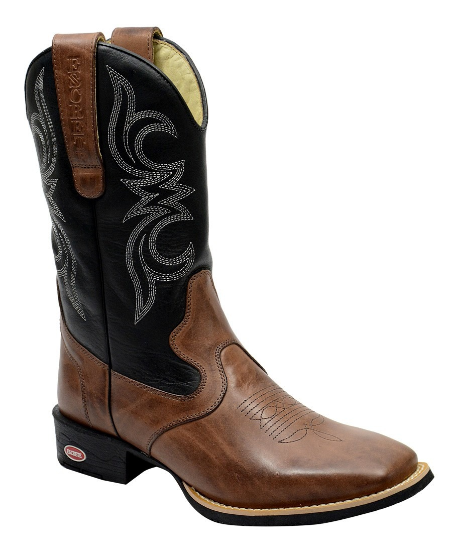 bota texana rodeio cano longo bico quadrado peão vaqueiro. Carregando zoom. 2968cd89f54