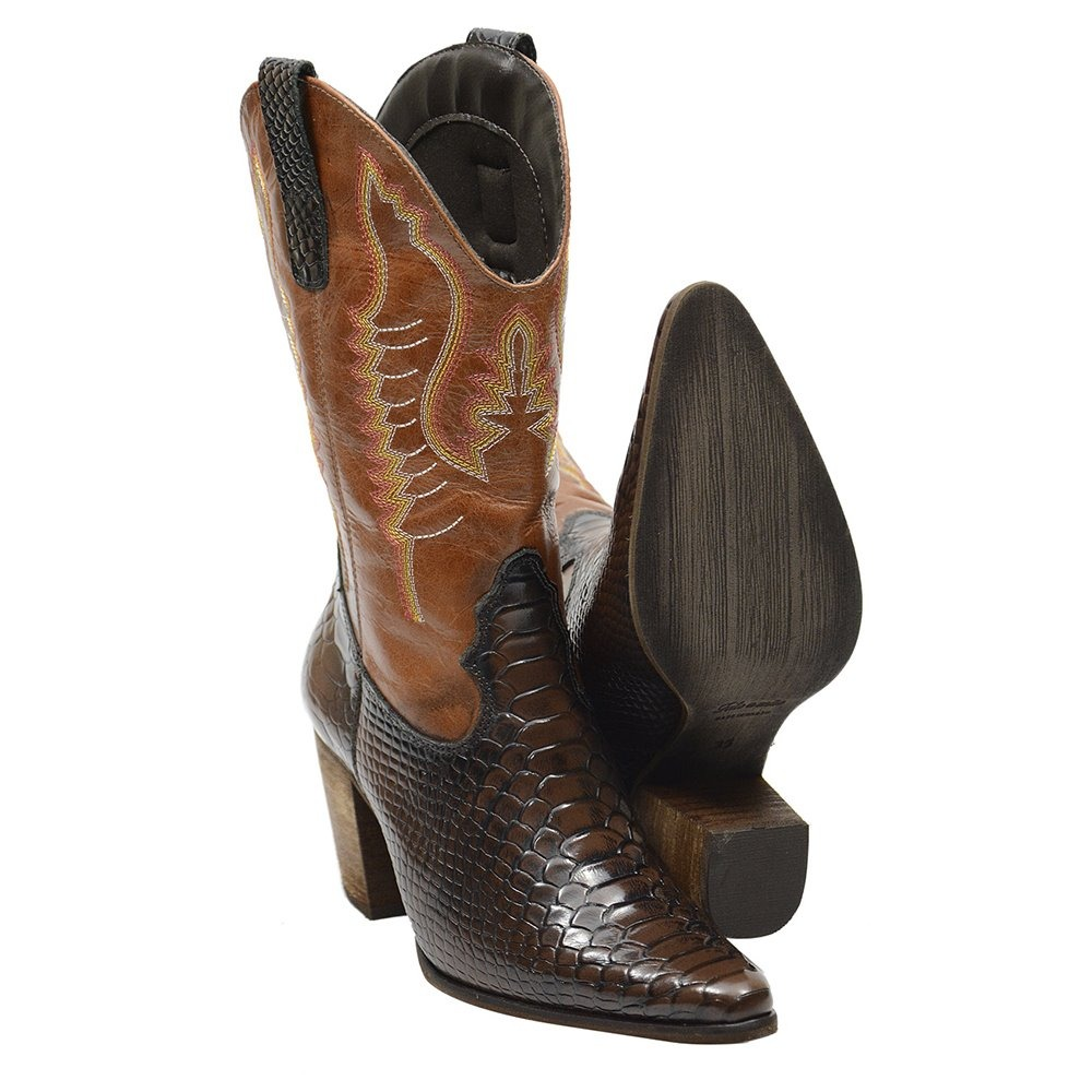 bota texana rodeio feminina couro legitimo + brinde. Carregando zoom. a449013169b