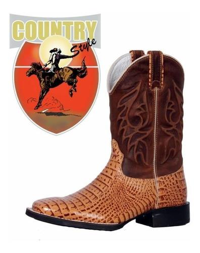 bota texana west country jacaré gravado - whisk cano alto