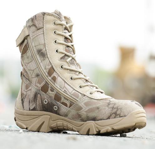 bota tipo militar camuflada - alta calidad # 41