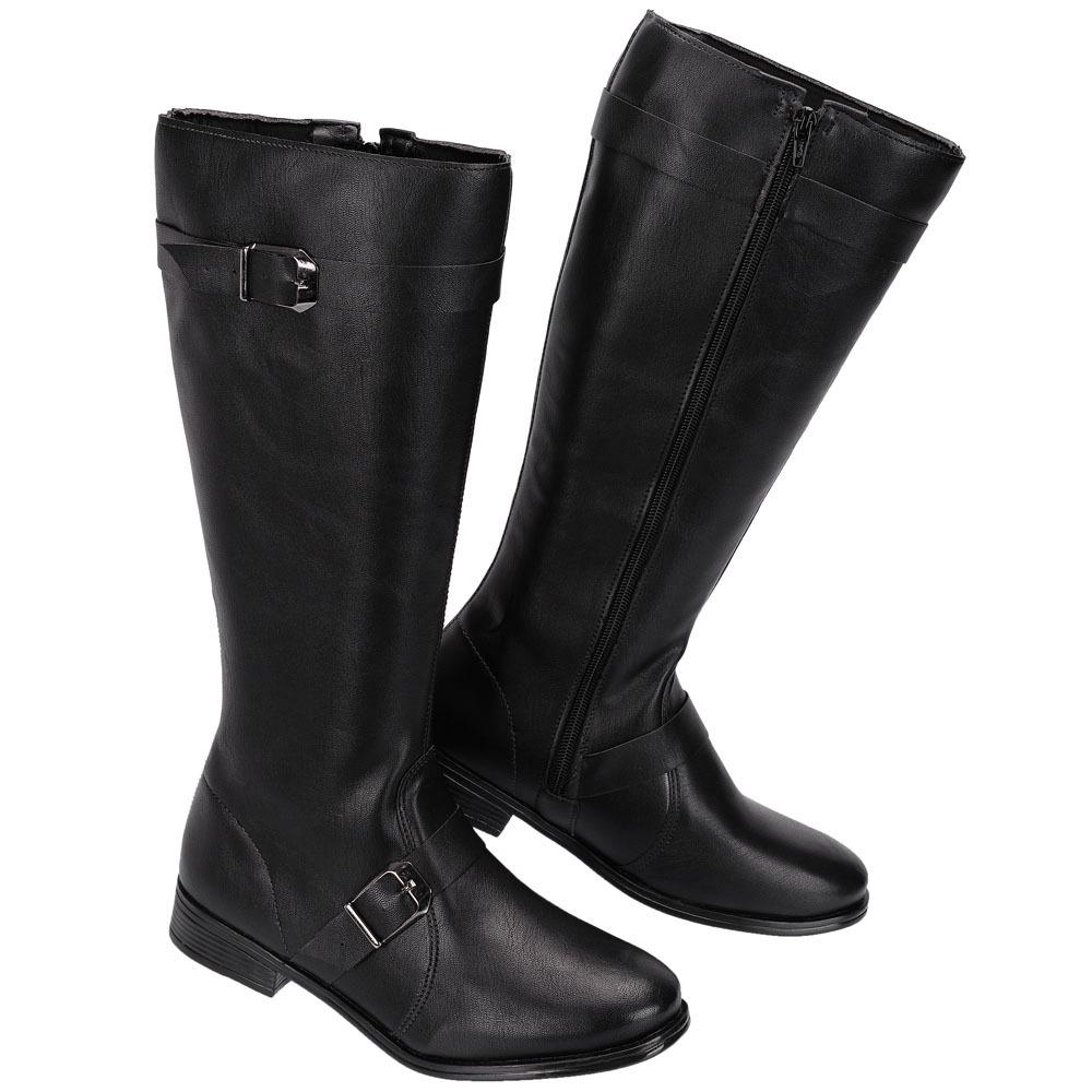 8f524615bf01c7 bota tipo montaria feminina cano longo confortavel ref:571. Carregando zoom.