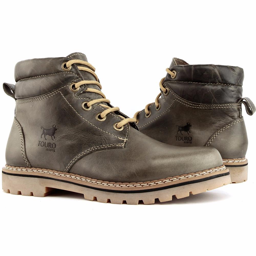 cc4e4fb9a4 Bota Touro Boots Masculina Em Couro - M024grafite - R$ 130,00 em ...