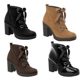 6be43f9b6 Bota Coturno Feminina Renner Via Marte Outras Marcas - Sapatos com o  Melhores Preços no Mercado Livre Brasil