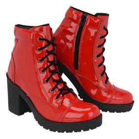 0592eb667 Bota Salto Alto Vermelha Com Feminino - Calçados, Roupas e Bolsas no ...