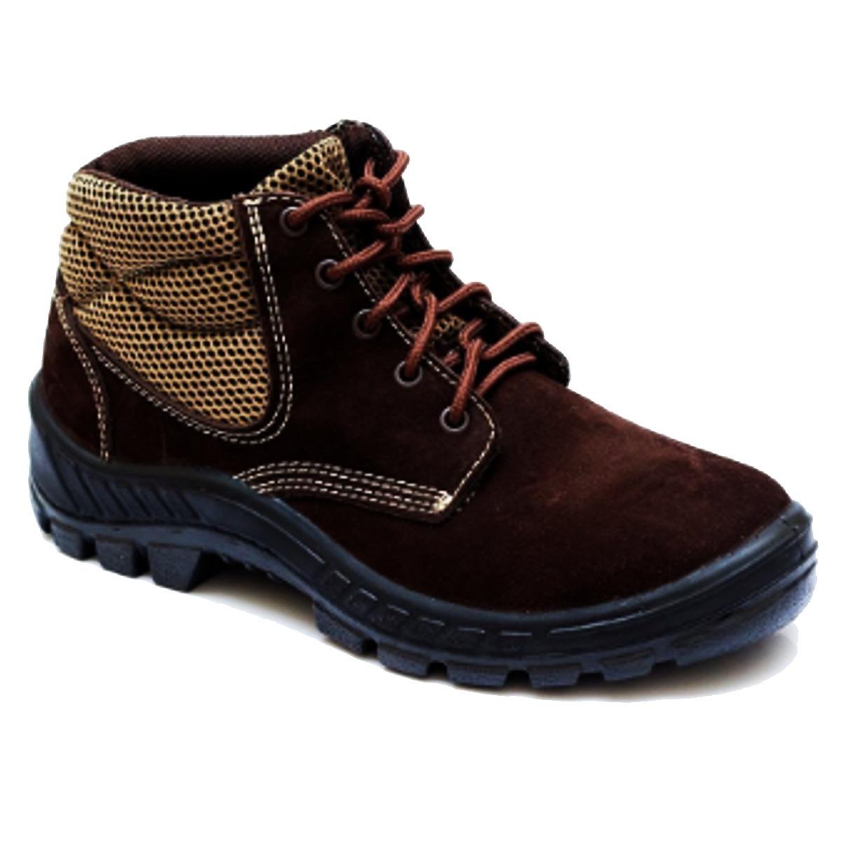 6519529f6 bota trekking bico composite nobuck marrom marluvas. Carregando zoom.