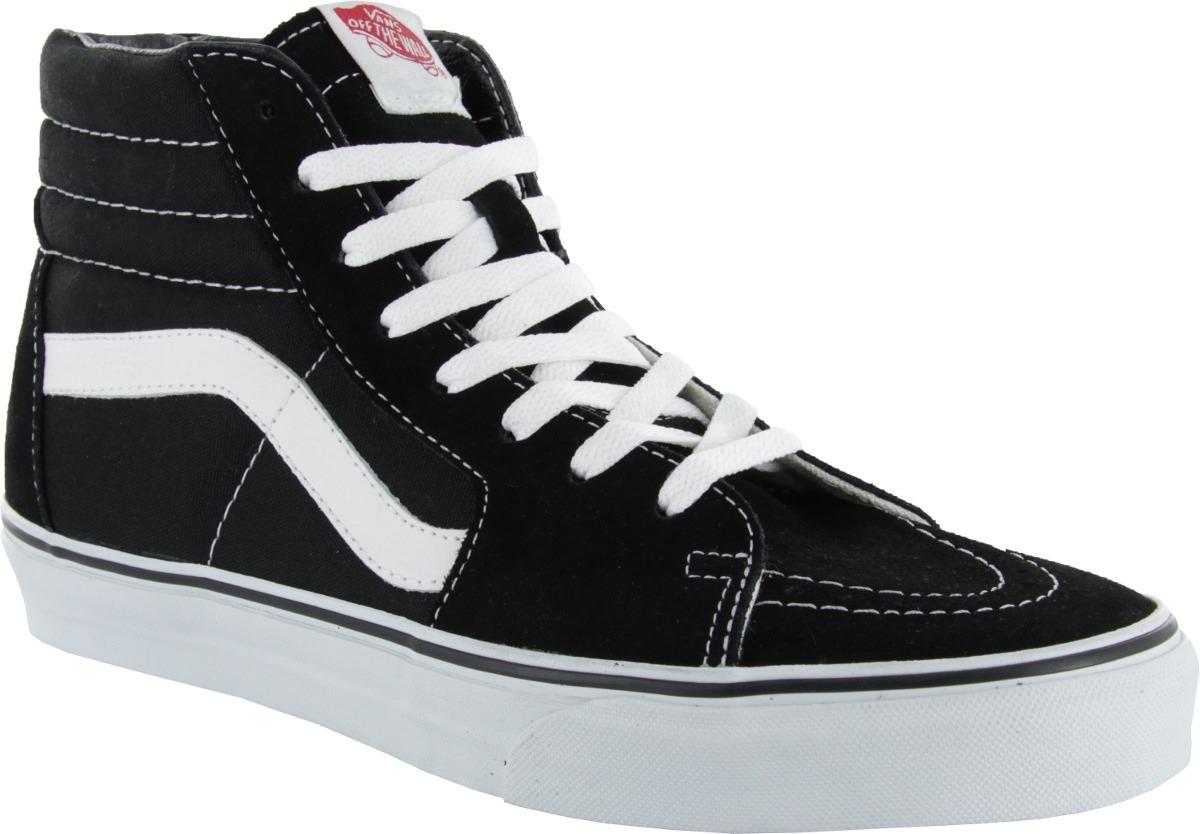 bota vans sk8 hi clasica negro blanco unisex look trendy. Cargando zoom. 89d7baff668