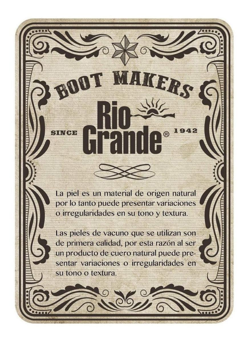 Bota Vaquera De Trabajo Para Hombre 1092 Kw Punta Media Suela Fulton Doble Densidad Y Alto Desempeño De Rio Grande