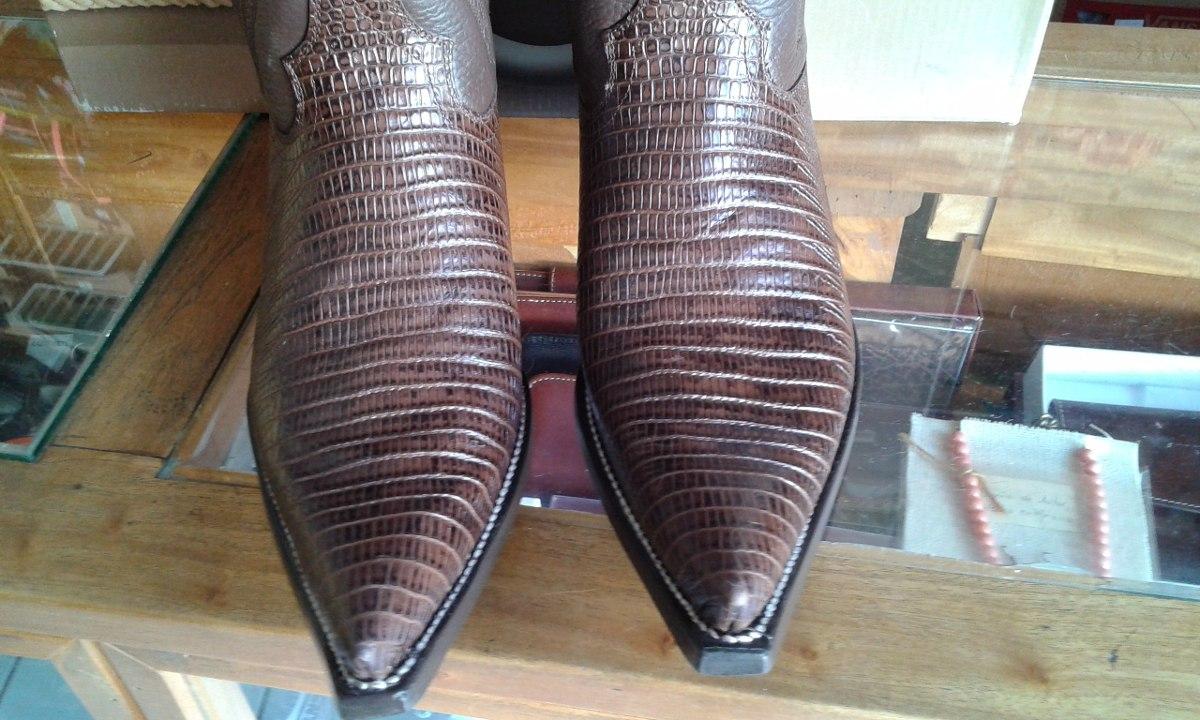 Botas de avestruz color gris ropa bolsas y calzado en mercadolibre - Bota Vaquera Lizard Caf Rancho Boots